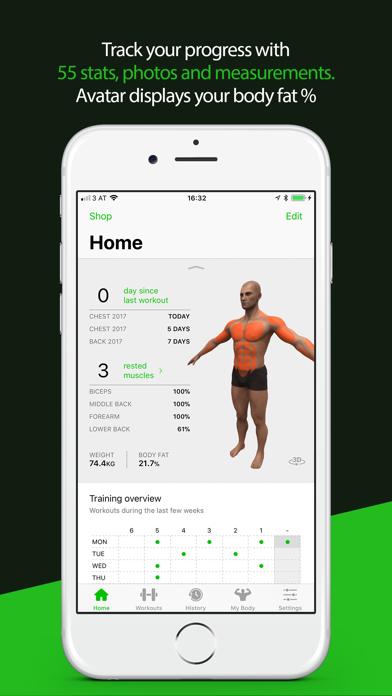 Screenshot #2 pour Gymaholic Workout Tracker
