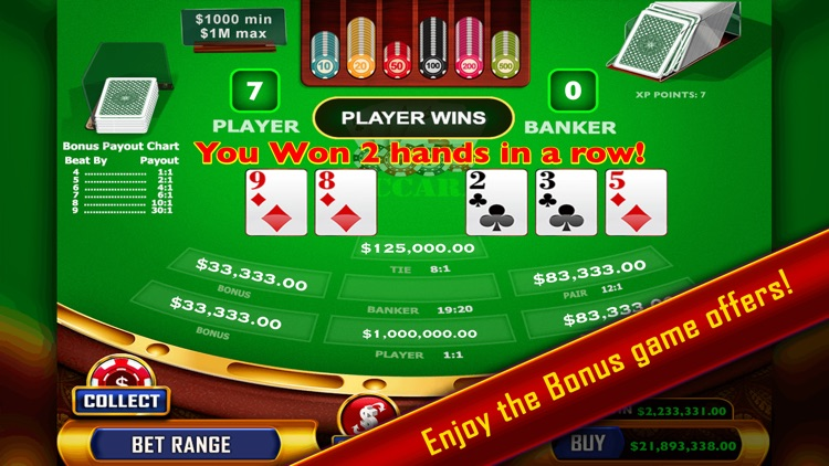 Baccarat - Casino Style screenshot-2