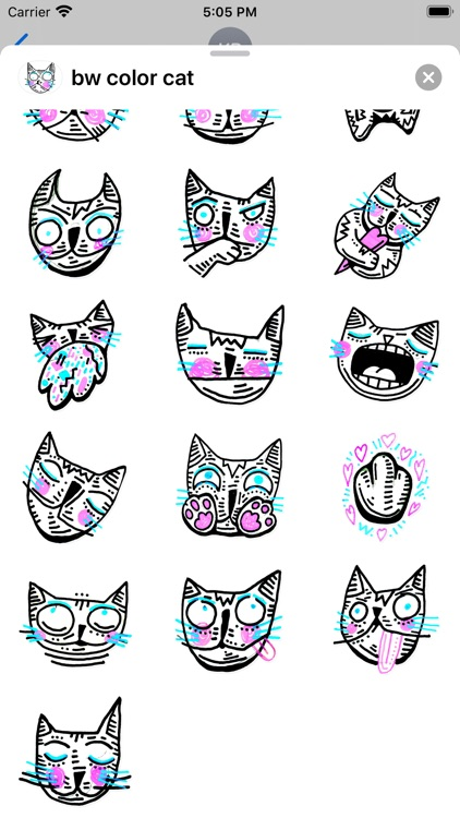 Drawn Cat - Emoji and Stickers screenshot-3