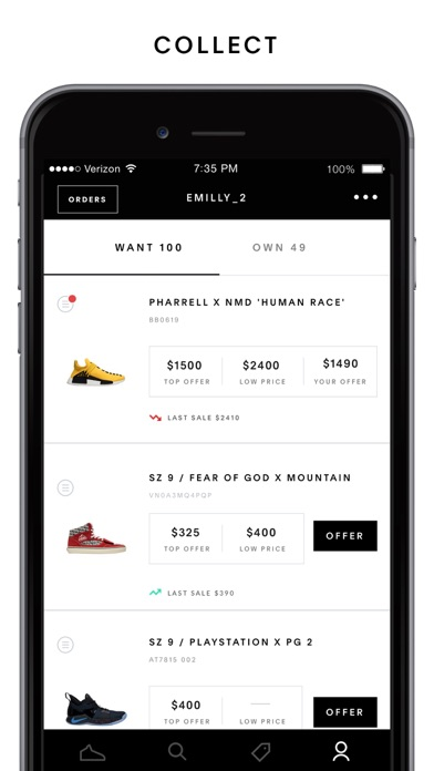 06904427f76a1 GOAT  Buy   Sell Sneakers App Profile. Reviews