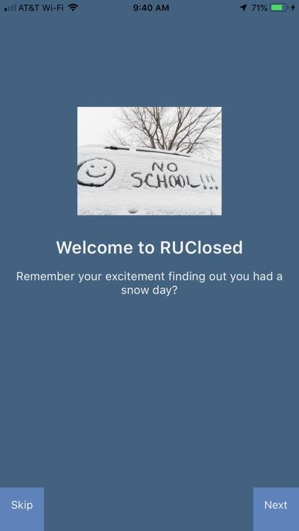 RUClosed - school/work closed?