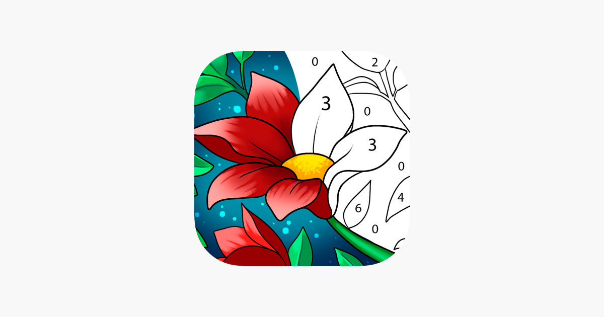 Paint By Number Colour Games On The App Store