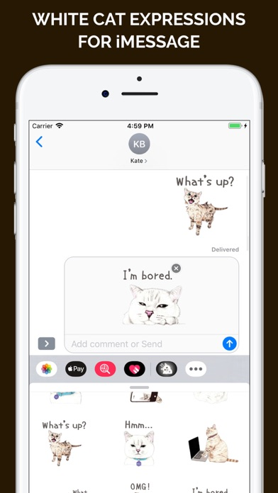 Screenshot for White Cat Expressions in Brazil App Store