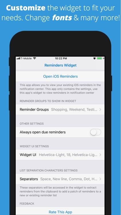 Reminders Widget screenshot-5
