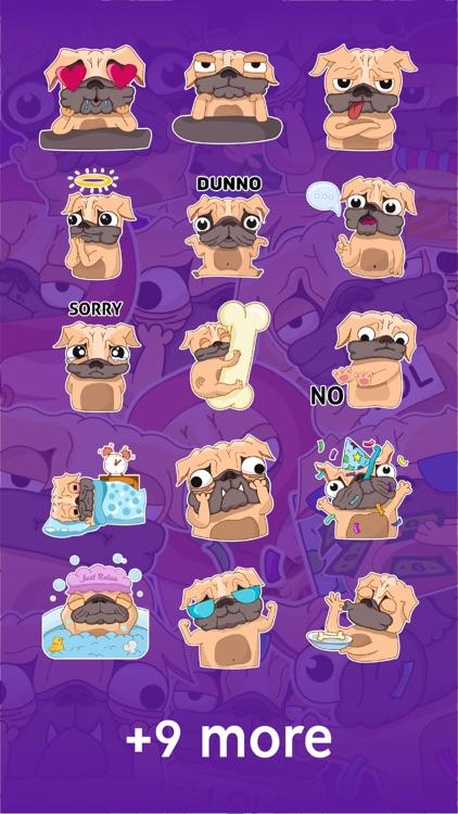 Pugly the Dog Emoji Stickers screenshot-6