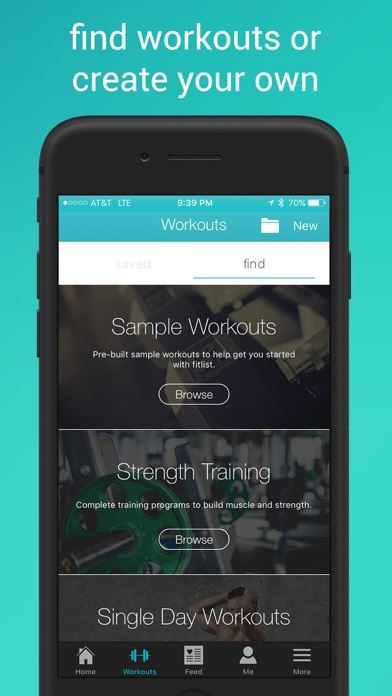Fitlist - Workout Log, Fitness Tracker & Exercise Journal with Routines for Bodybuilding, Weightlifting, Gym & Strength Training screenshot