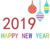 wish New Year stickers 2019