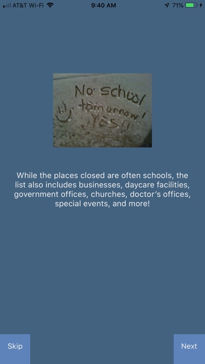 RUClosed - school/work closed?