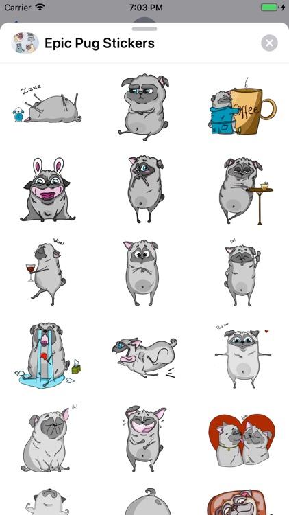 Epic Pug Emojis screenshot-3