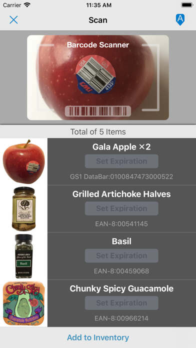 Pantry Check - Grocery List Screenshot