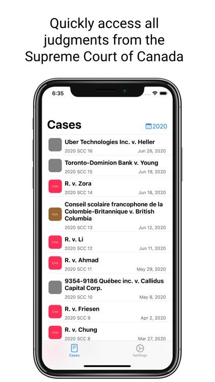 Supreme Court of Canada Cases
