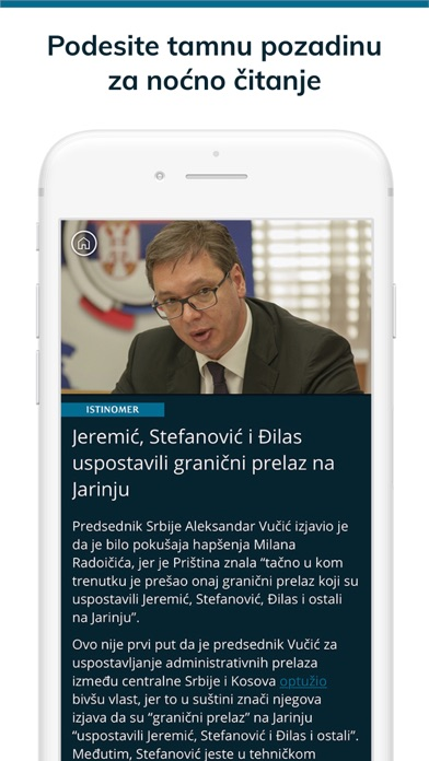 Istinomer vesti Screenshot on iOS