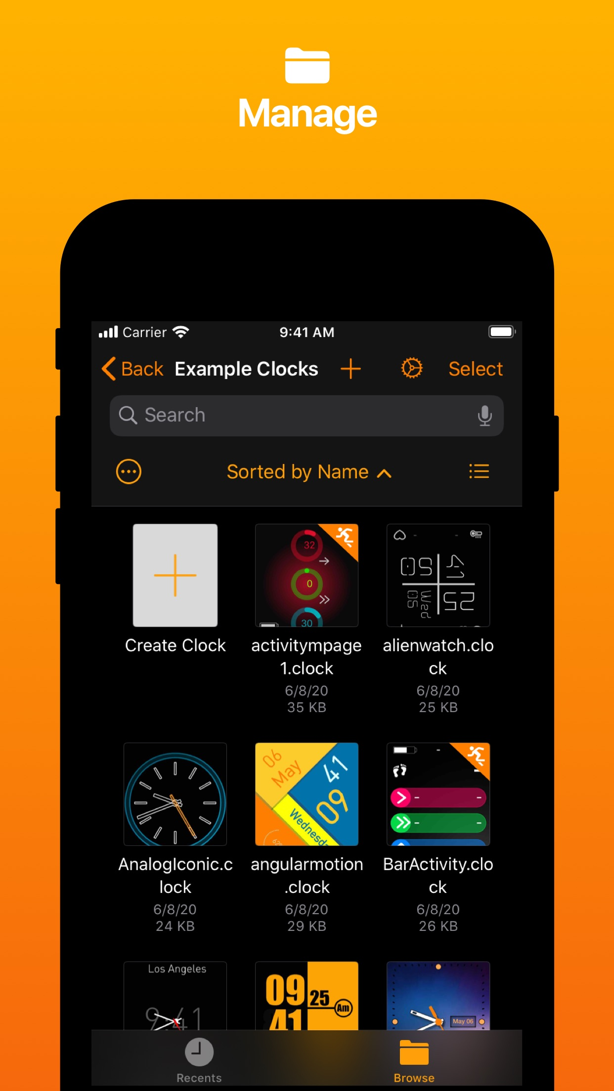 Screenshot do app Clockology