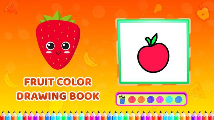 Fruit Colour Drawing Book screenshot-3