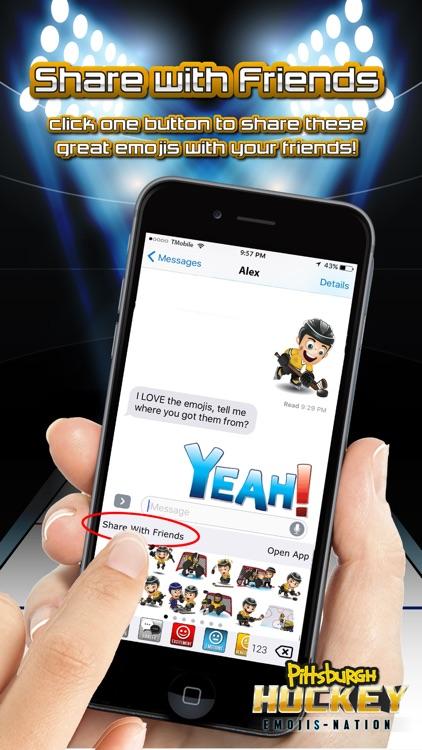 Pittsburgh Hockey Emojis screenshot-4