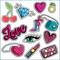 Dashed Fashion Stickers