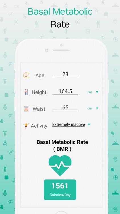 BMI, BMR & Body Fat Calculator screenshot-4