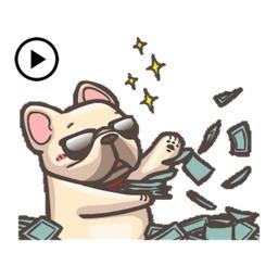 Animated Cute French Bulldog 2