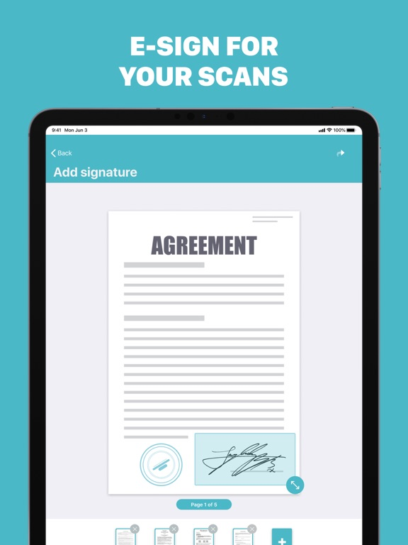 Ipad Screen Shot PDF Scanner - Scanly 1
