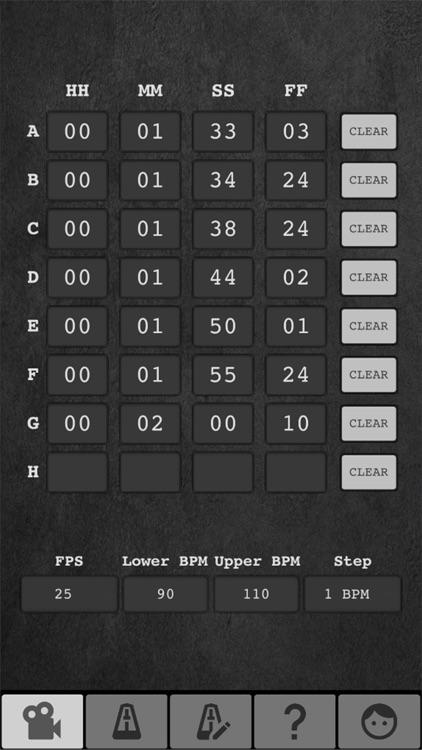 Tempo Finder for Film Scoring