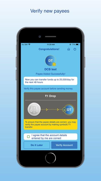 DCB Bank Mobile Banking screenshot-8