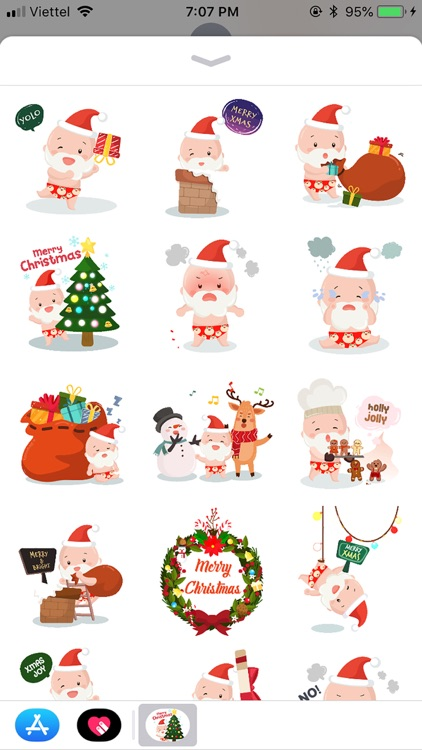 Christmas BoKid Funny Stickers