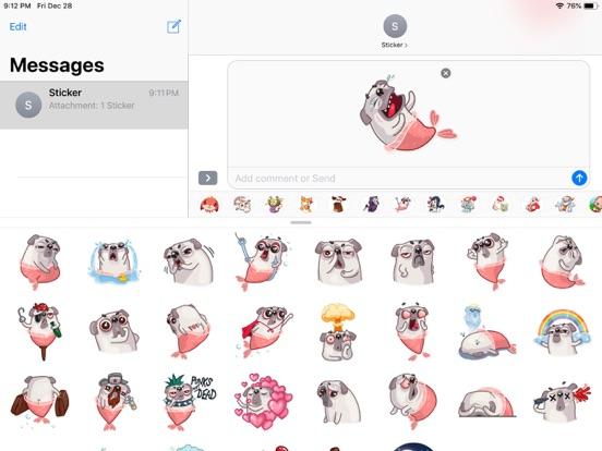 Water Pug Dog Funny Stickers screenshot 5