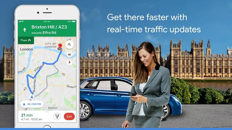 Google Maps - Transit & Food App 截图