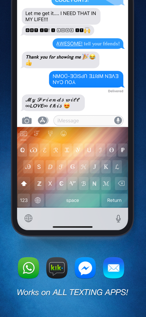 ‎Cool Fonts - Keyboard & Themes Screenshot