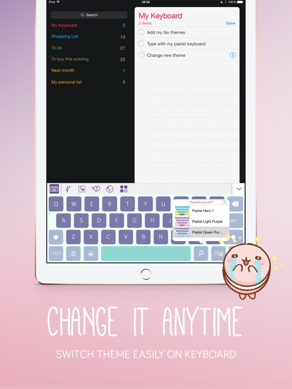 Pastel Keyboard Themes Color Screenshots