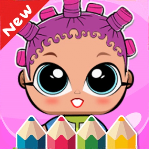 Dolls Coloring Book Lol