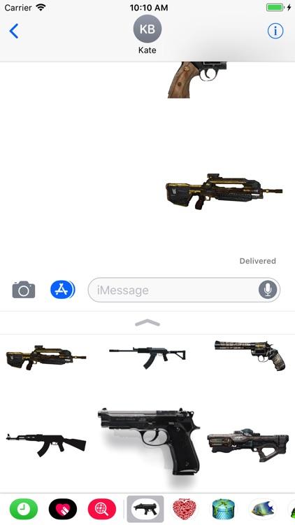 Guns Stickers for iMessage screenshot-3