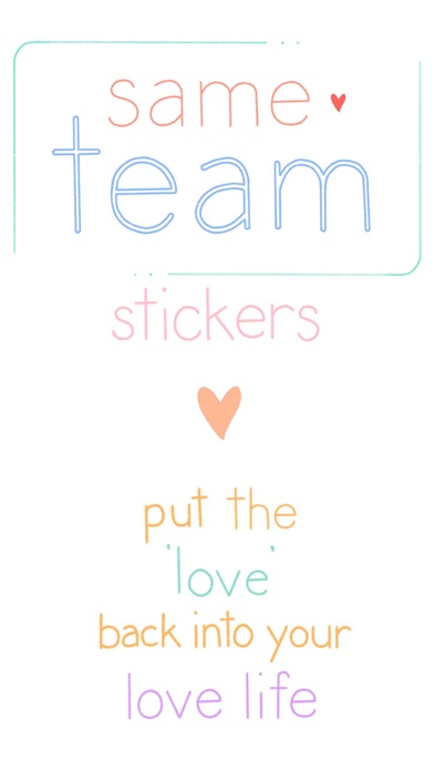 same team - stickers of love app image