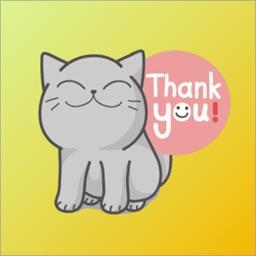 Cat Lovely Gray Sticker