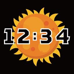 Space Clock -digital clock-