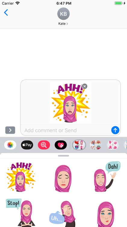 Muslimah Stickers screenshot-3