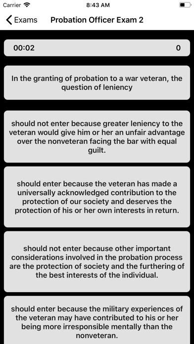 Screenshot for Probation Officer Exam Buddy in United States App Store