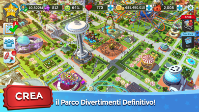 Screenshot of RollerCoaster Tycoon® Touch™1