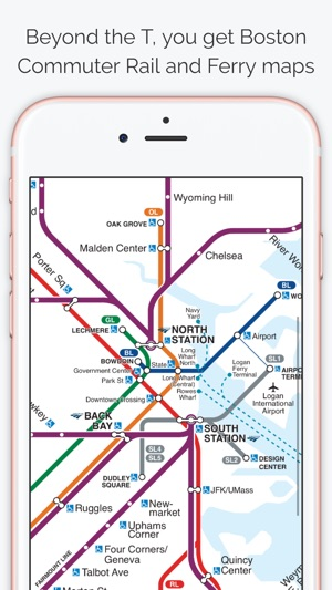 Chelsea Subway Map.Boston Subway Map The T On The App Store