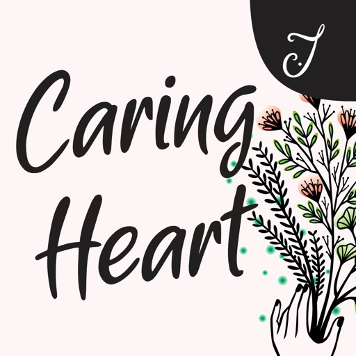 Caring Heart Stickers
