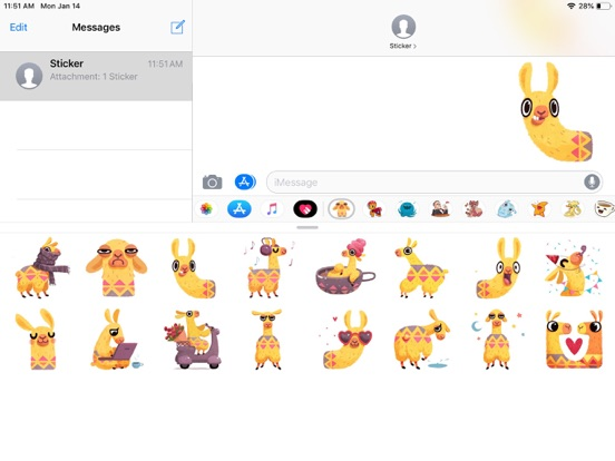 Hipster Lama Funny Stickers screenshot 4