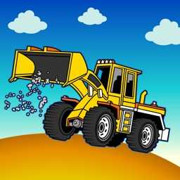 Truck jigsaw puzzle for kids.