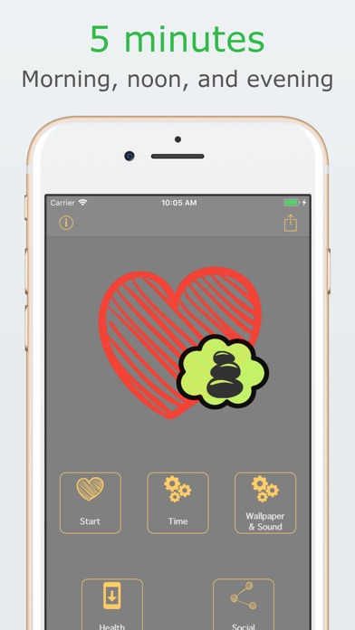 Controlled Breathing Assistant Screenshot on iOS