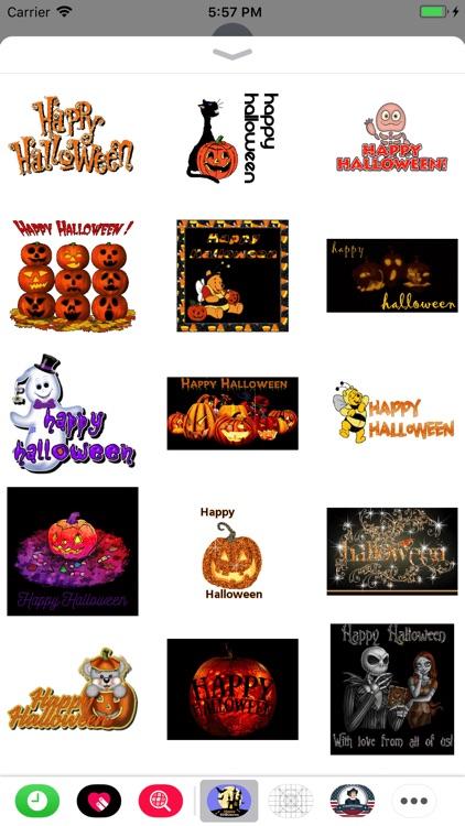 Halloween GIF Stickers 2017