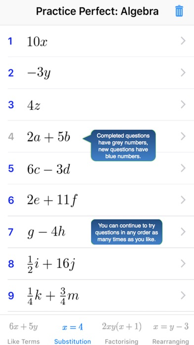 Screenshot for Practice Perfect: Maths 10 in Belgium App Store