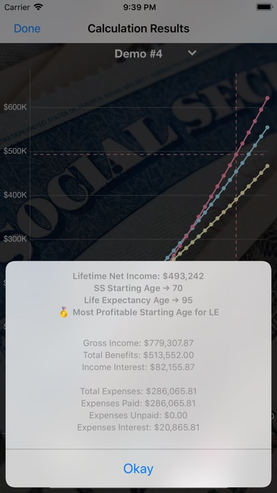 Screenshot for Social Security Calculator in United States App Store