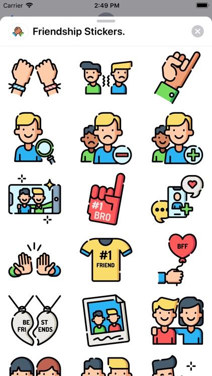 Friendship Stickers.