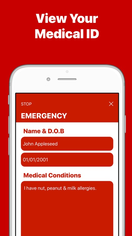 RequestSOS - Medical ICE Alarm