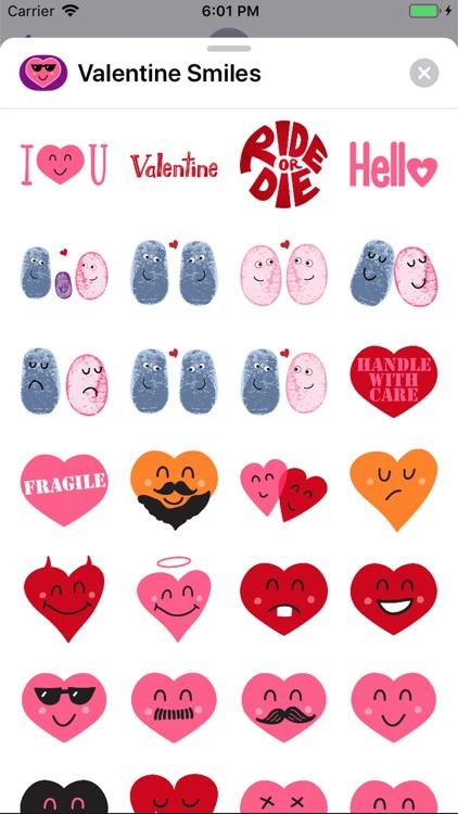 Valentine Smiles Sticker Pack screenshot-4