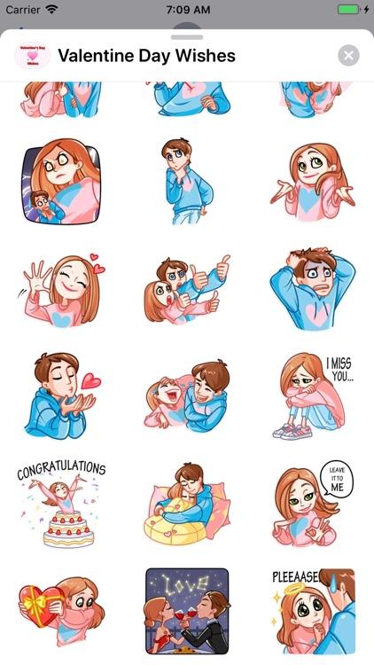 Valentine Day Wishes Stickers screenshot-6